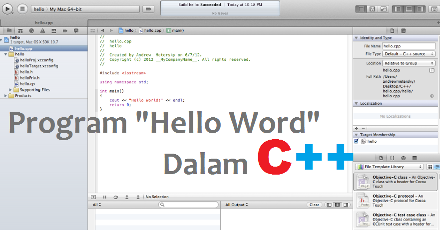 Program hello word