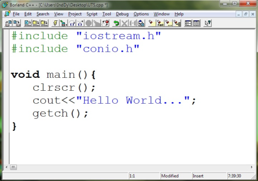 contoh Program C++ sederhana