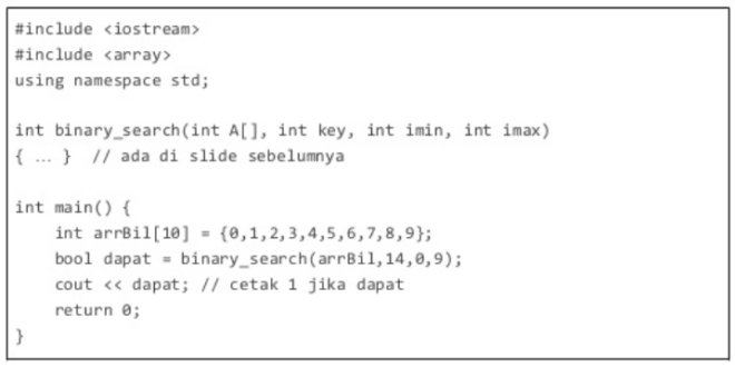 binary search c++