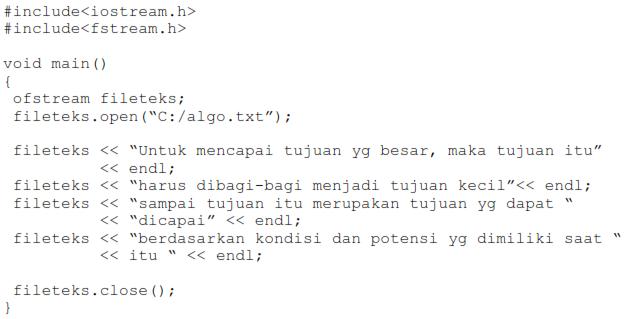 sintaks menutup file